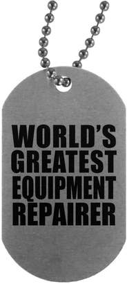 Equipment Designsify World's Greatest Repairer - Military Dog Tag, Aluminum ID Tag Necklace, Best Gift for Birthday, Anniversary, Easter, Valentine's Mother's Father's Day