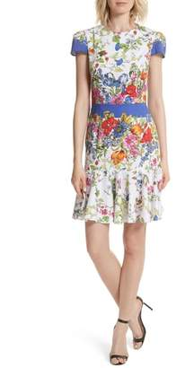 Milly Karissa Floral Stretch Cotton Dress