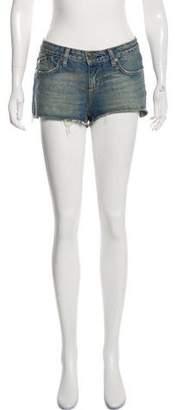 Victoria Beckham Denim Mid-Rise Mini Shorts