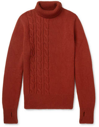 Oliver Spencer Talbot Cable-Knit Wool Rollneck Sweater