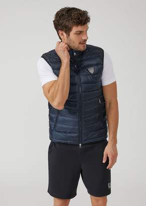 Emporio Armani Ea7 Windproof Technical Fabric Jacket Padded With Goose Down