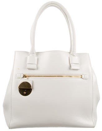Marc Jacobs Marc Jacobs Coated Leather Satchel