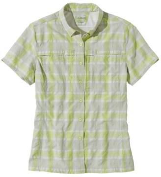 L.L. Bean L.L.Bean Misses' Tropicwear Shirt, Plaid Short-Sleeve
