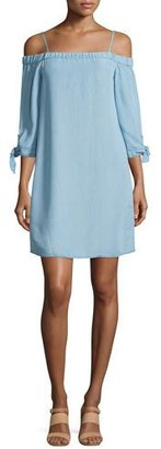 Ella Moss The Bare Shoulder Chambray Dress $79 thestylecure.com