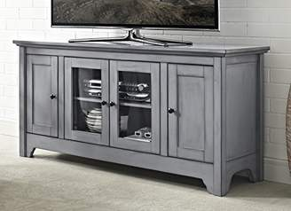 at amazoncom we furniture 52 wood tv media stand storage console antique grey - Antique Tv Stands