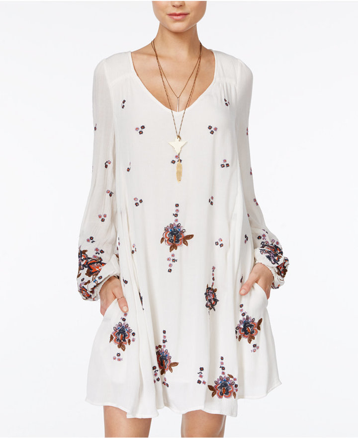 Free People Oxford Embroidered Shift Dress 6