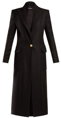 Balmain Single Breasted Wool And Cashmere Blend Coat - Womens - Black