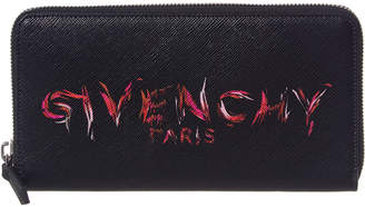 Givenchy Logo Zip Arouind Wallet