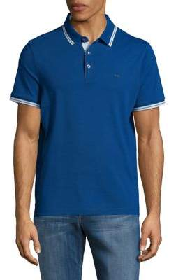 Michael Kors Stripe-Trim Polo Shirt