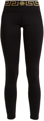 VERSACE Logo-print performance leggings
