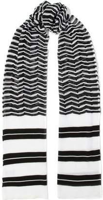 M Missoni Striped Crochet-Knit Cotton-Blend Scarf