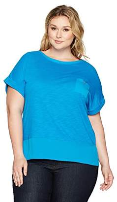 Jones New York Women's Plus Size Wide Nk Dolman SLV 'T' W/High Low