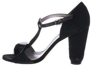 Sonia Rykiel Suede T-Strap Sandals