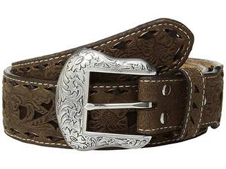 M&F Western Floral Pierced Embossed with Buckstitch Belt