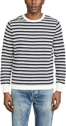 J.Crew J. Crew Allover Double Stripe Crew Neck Sweatshirt