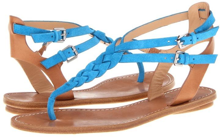 Belle by Sigerson Morrison Rank (Blue Suede/Nude Leather) - Footwear