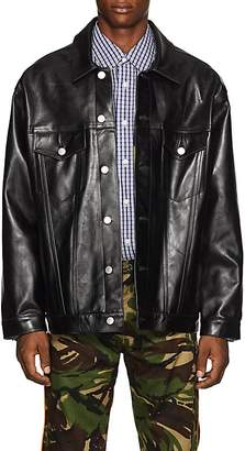 Martine Rose Men's Oversized Leather Trucker Jacket