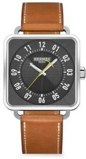 Hermes Carre H Square Leather Strap Watch