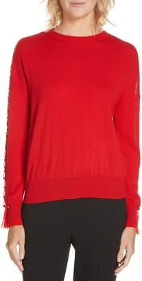 Jonathan Simkhai Ring Sleeve Wool Sweater