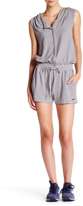 Zobha Activewear Hooded French Terry Romper $54 thestylecure.com