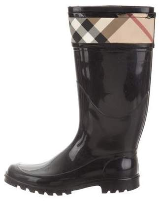 Burberry Nova Check Rubber Rain Boots