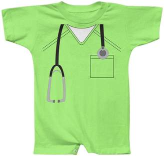 Old Glory Halloween Doctor Scrubs Costume Baby Romper Lime 6 Month