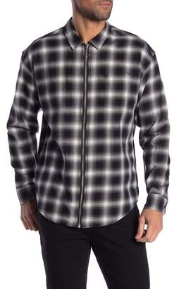 Original Penguin Long Sleeve Relaxed Fit Zip Flannel