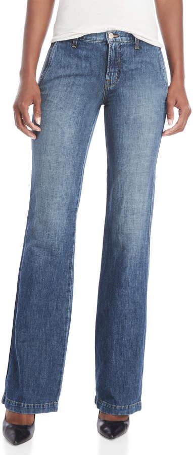 Glenn Relaxed Leg Linen-Blend Jeans