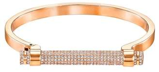 Swarovski Friend Pave Crystal Bar Bangle Bracelet