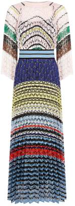 Missoni Pleated Bell Sleeve Gown