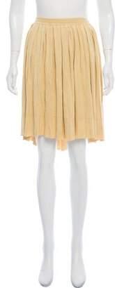 Emporio Armani Pleated Knee-Length Skirt