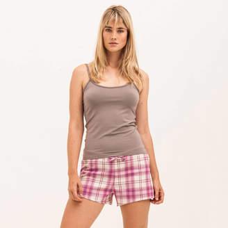 PJ Pan Pink Check Pyjama Shorts