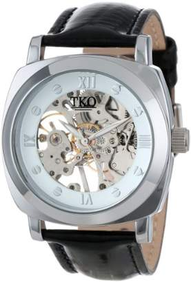 "TKO ORLOGI Women's TK629WB ""Mechanical Skeleton"" Watch with Black Leather Band"
