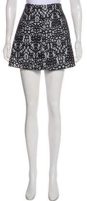 Robert Rodriguez Embroidered Mini Skirt