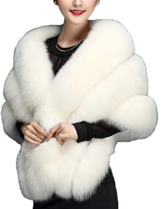 Fashion style Faux Fur Wrap Cape Shawl for Women's Wedding Dresses and Ladies Party