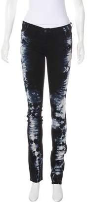 J Brand Tie-Dye Print Straight-Leg Pants