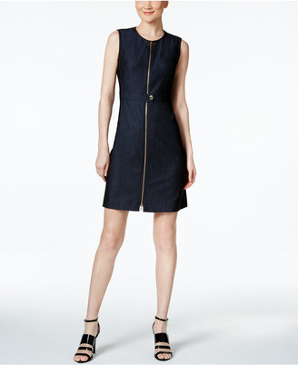 Calvin Klein Zip Front Denim Dress $89.98 thestylecure.com