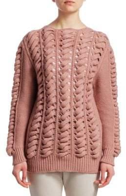Gentry Portofino Open Cable Knit Pullover