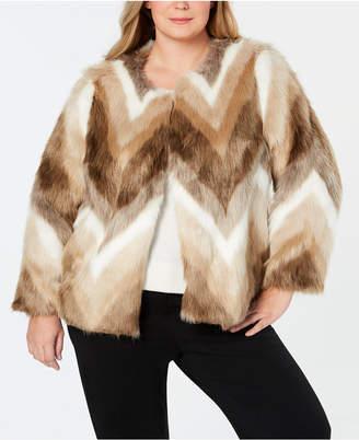 Alfani Plus Size Faux-Fur Coat