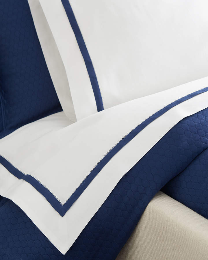 Two King Oxford Border Pillowcases