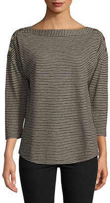 Jones New York Striped Boatneck Top