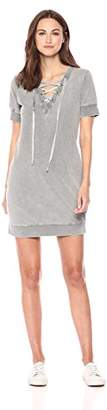 William Rast Women's Evie Lace Up Sweatshirt Dress