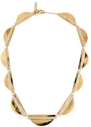 Rachel Zoe Crystal Bar Half Circle Collar Necklace