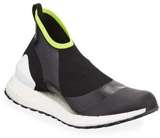 adidas by Stella McCartney UltraBOOST X ATR Engineered Mesh Sneakers, Black/Green