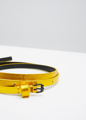 Haider Ackermann yellow thin belt $285 thestylecure.com