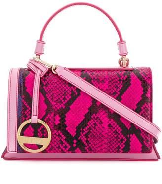Emilio Pucci Fuchsia And Pink Elaphe Pilot Bag