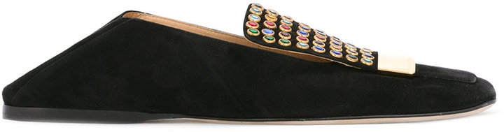 Sergio RossiSergio Rossi embellished slippers