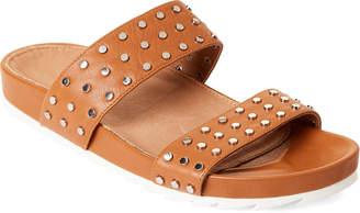 cfa8fb27a J Slides Tan Erika Studded Slide Sandals