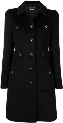 Moschino classic single-breasted coat