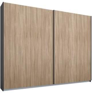 At Made Urban Research Malix 2 Door 225cm Sliding Wardrobe Graphite Grey Frame Oak